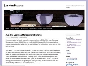 A screenshot of joanvinallcox.ca